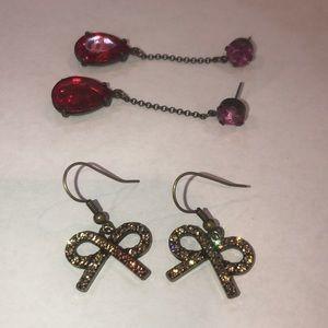 Set of 2 sparkle earrings